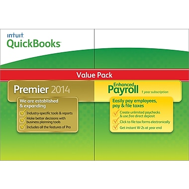 QuickBooks Premier (1 User) & Enhaced Payroll Bundle for Windows (3 User) [Download]