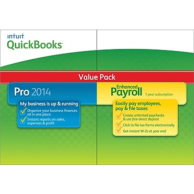 QuickBooks Pro with Enhanced Payroll 2014 for Windows (1 User) [Download]