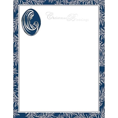 Great Papers® Holiday Stationery Madonna & Child Ornament, 40/Count