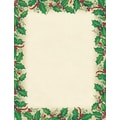 Great Papers® Dancing Holly letterhead, 80/Pack