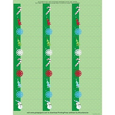 Great Papers® Holiday Card Address Labels Cheery Snowman , 150/Count
