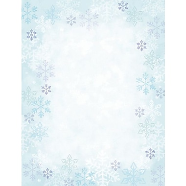 Great Papers® Blue Flakes letterhead, 80/Pack