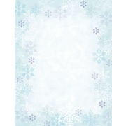 Great Papers® Holiday Stationery Blue Flakes , 80/Count