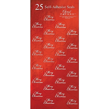 Great Papers® Holiday Seals Red Merry Christmas , 50/Count
