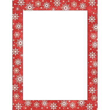 Great Papers® Holiday Stationery Snowy Flakes , 80/Count