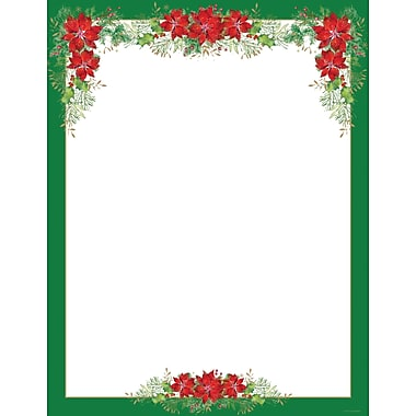 Great Papers® Holiday Stationery Poinsettia Valance , 80/Count