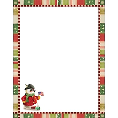 Great Papers® Holiday Stationery Patriotic Snowman , 80/Count