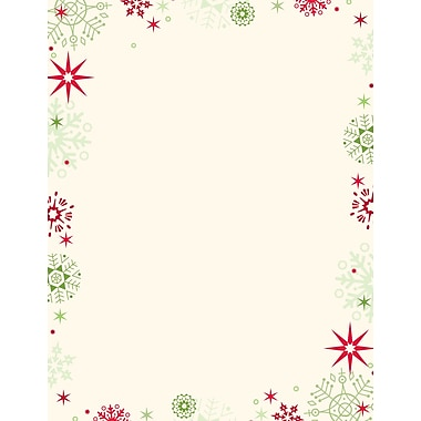 Great Papers® Red & Green Flakes letterhead, 80/Pack