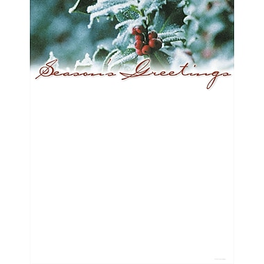 Great Papers® Holiday Stationery Holly And Berries , 80/Count