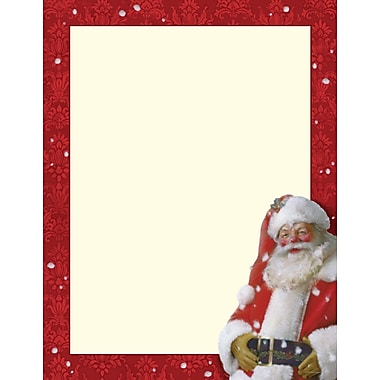 Great Papers® Jolly St. Nick letterhead, 80/Pack