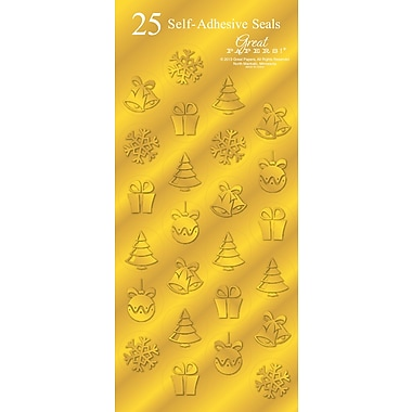Great Papers® Holiday Seals Golden Icons , 50/Count