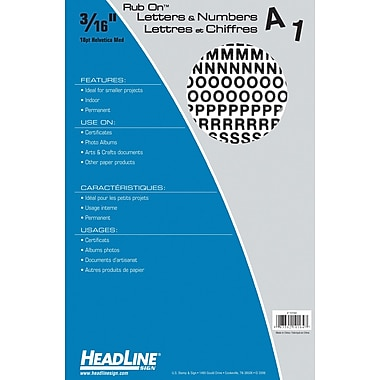 HeadLine® Rub On Lettering 3/16
