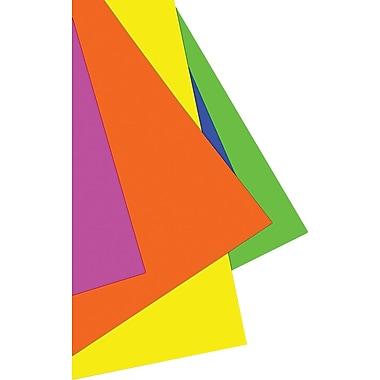 StaplesMD – Cartons pour affiche de couleurs fluorescentes variées, 22 x 28 po, 5/paquet