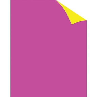 Staples® Two Cool Fluorescent Pink/Canary Poster Board, 22