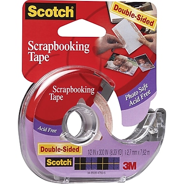 Scotch® Double - sided Scrapbooking Tape, 1/2