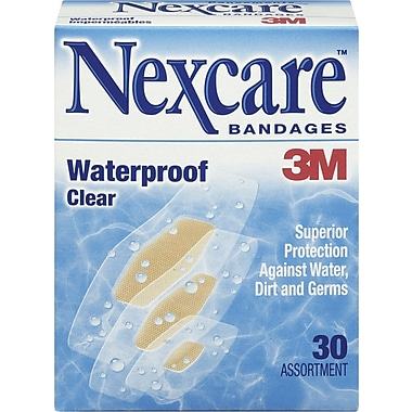 Nexcare™ Waterproof Clear Bandages, Assorted Sizes, 30/Pack