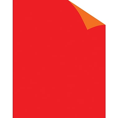 Staples® Two Cool Fluorescent Red/Orange Poster Board, 22