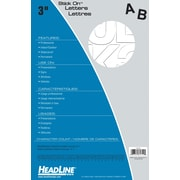 """HeadLine® 3"""" Helvetica Letters  -  White"""