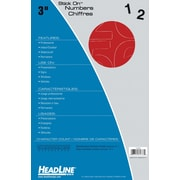 "HeadLine® 3"" Helvetica Numbers  -  Red"