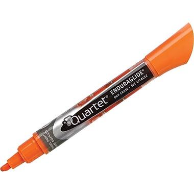 Quartet® EnduraGlide™ Chisel Tip Dry - Erase Markers, Orange, Singles