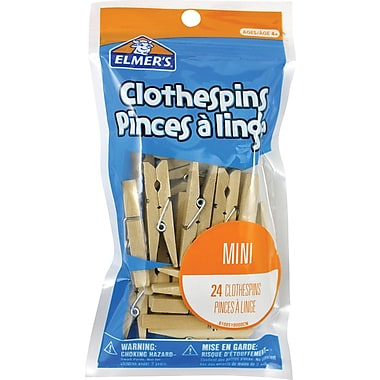 Elmer's® Clothespins, 24/Pack