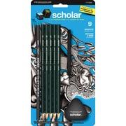 Prismacolor® - Ensemble de crayons graphites Scholar 7 pièces Plus 2 gommes à effacer