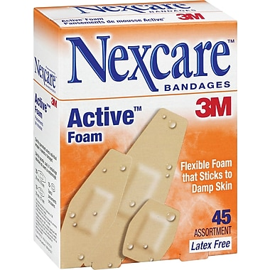 Nexcare™ Active™ Foam Bandages Assorted Sizes, 45/Pack