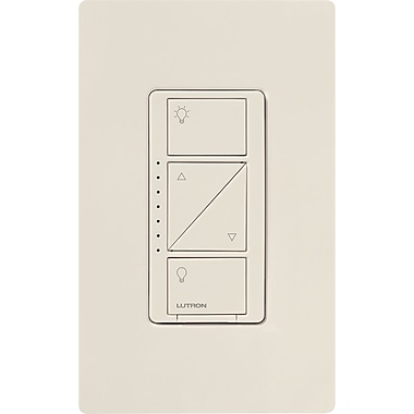 lutron caseta wireless 600 watt in wall dimmer light almond staples. Black Bedroom Furniture Sets. Home Design Ideas