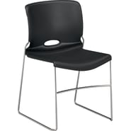 HON Olson Stacking Chair, 4-Pack,  Onyx