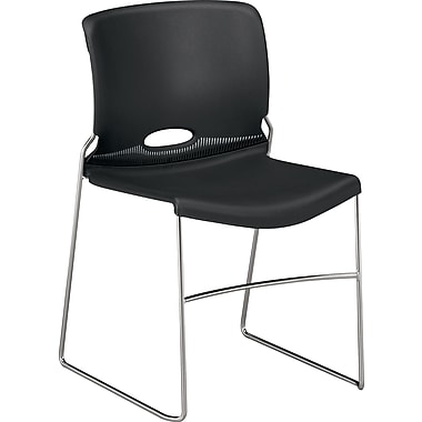 HON® Olson Stacker® High-Density Stacking Chair, Onyx, 4/Carton (HON4041ON)