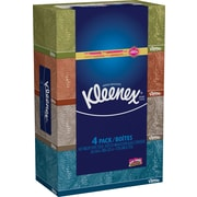 Kleenex® Facial Tissues, 4 Boxes/Pack, 160 Tissues/Box, 2-Ply