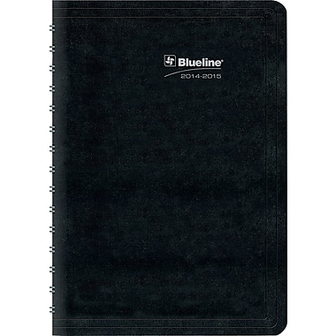 2014-2015 Brownline, Academic Daily Planner, 8in. x 5in., Black