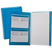 "Oxford® Index Card Notebooks, 3"" x 5"", White Blue Poly Cover, 50 Sheets"
