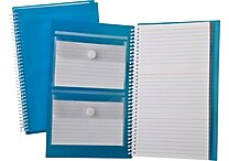 Oxford® Index Card Notebooks, 3' x 5', White Blue Poly Cover, 50 Sheets