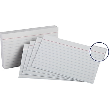 Oxford 3in. x 5in. Heavy Weight Lined Ruled White Index Cards, 100/Pack