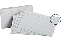 Oxford® 3' x 5' Heavy Weight Lined Ruled White Index Cards, 100/Pack