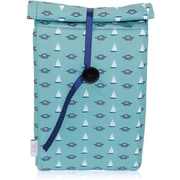 Blue Avocado (eco) Button Bag, Green Nautical