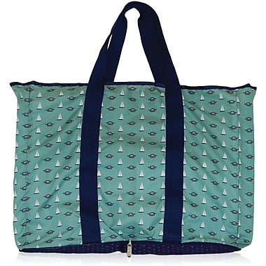 Blue Avocado (eco) Shopper, Green Nautical