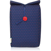 Blue Avocado (eco) Button Bag, Red Dot