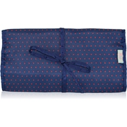 Blue Avocado (eco) Jewelry Roll, Red Dot