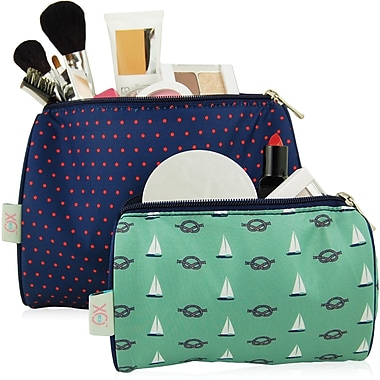 Blue Avocado (eco) Pouch Kit - Red Micro Dot/Green Nautical