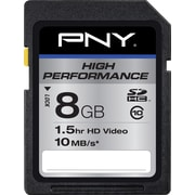 PNY High Performance 8GB SD (SDHC) Class 10 Flash Memory Card