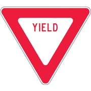 "Accuform Signs® 24"" x 24"" Engineer Grade Reflective Aluminum Yield Sign ""YIELD"", Red On White"