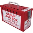 Accuform Signs® Steel Portable Group Slot Lock Box, Red