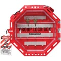 Accuform Signs® STOPOUT® Look n Stop Plastic Group Lock Box, Red