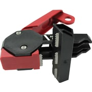 Accuform Signs® STOPOUT® Triple Pole 120/240 Circuit Breaker Lockout With Bar Clamp/Lockout Tag, Red