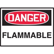 "Accuform Signs® 3 1/2"" x 5"" Adhesive Vinyl Safety Label ""DANGER FLAMM.."", Red/Black On White, 5/Pack"