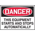 Accuform Signs® 3 1/2in. x 5in. Adhesive Vinyl Safety Label in.DANGER THIS..in., Red/Black On White, 5/Pack