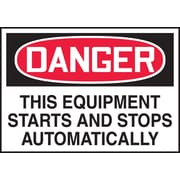 "Accuform Signs® 3 1/2"" x 5"" Adhesive Vinyl Safety Label ""DANGER THIS.."", Red/Black On White, 5/Pack"
