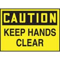 Accuform Signs® 3 1/2in. x 5in. Adhesive Vinyl Safety Label in.CAUTION KEEP HA..in., Black On Yellow, 5/Pack